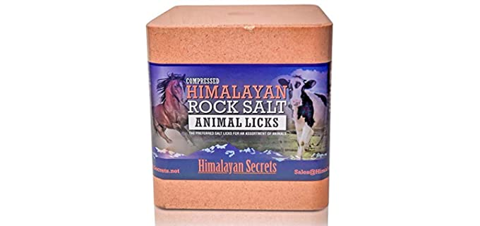Himalayan Secrets Compressed Salt - Himalayan Salt Block for Horses