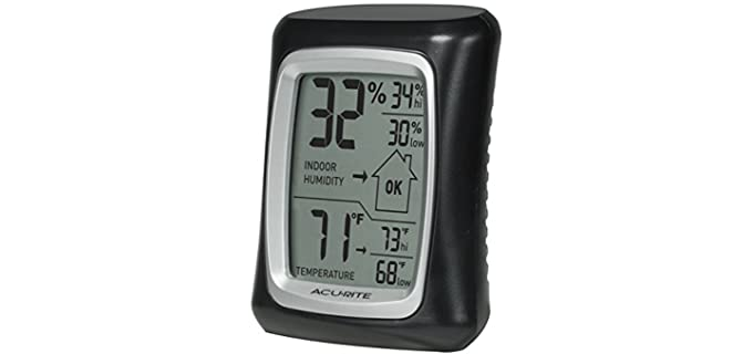 AcuRite Indoor Thermo-Hygrometer - Thermometer for Reptiles