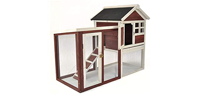 Advantek Stilt House Rabbit Hutch - Outdoor Hutch for Rabbits