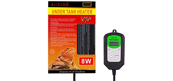 Aiicioo Digital Thermostat Reptile Heating Pad - Heat Pad for Reptiles