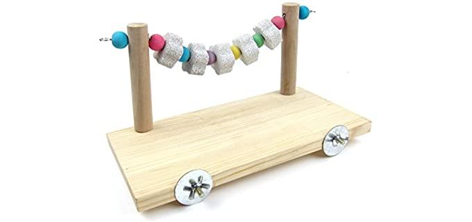 Alfie Wooden Platform - Chinchilla's Toy