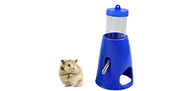 C Hamster 2-in-1 Hideout Water Bottle - Hamster Water Bottle