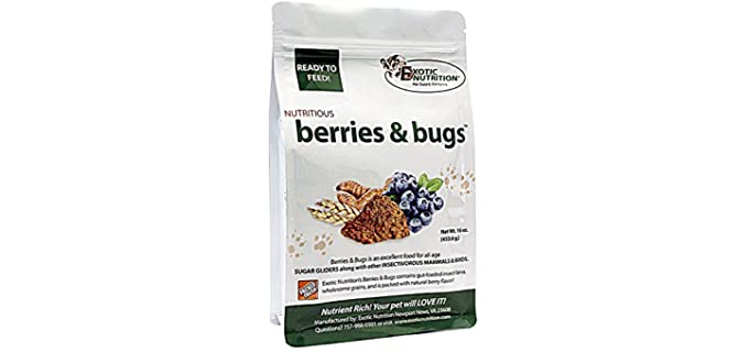 Exotic Nutrition Nutritious Berries and Bugs - Cheap Sugar Glider Food