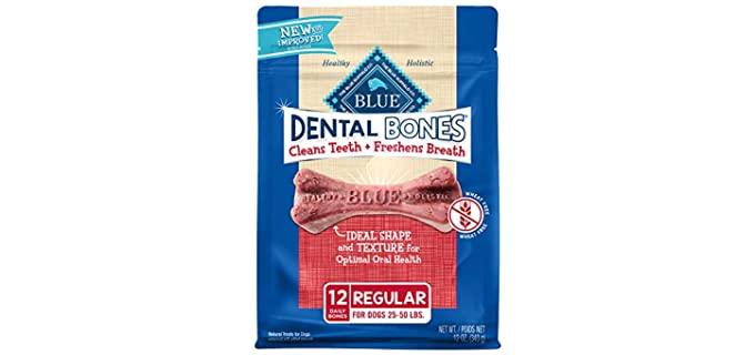 Blue Buffalo Dental Bones Adult Dog Treats - Dog's Teeth Clean Chews