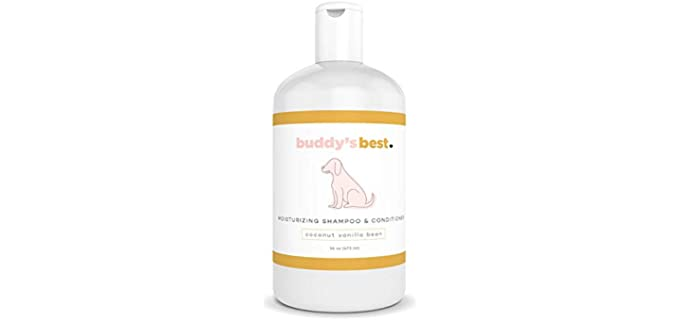 Buddy's Best Natural Dog Shampoo and Conditioner - Scented Dog Shampoo