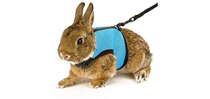 Calunce Soft Rabbit Harness With Leash - Harness for Rabbits