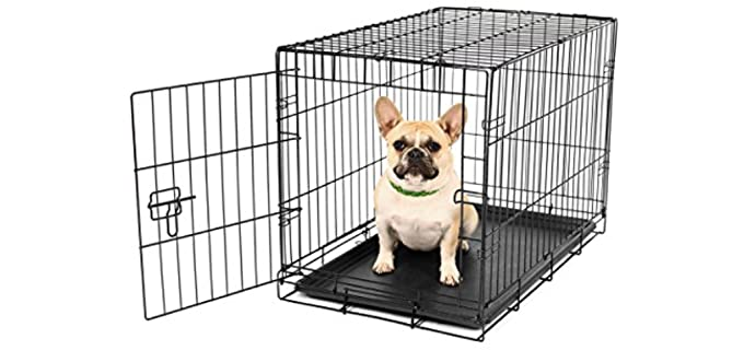 Carlson Pet Products Single-Door Metal Dog Crate - Puppy Crate