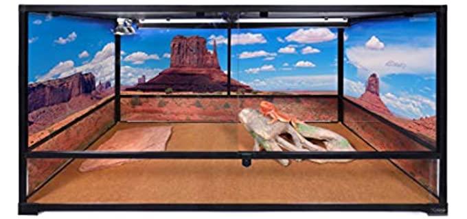Carolina Custom Cages Tall Extra-Long Deep Terrarium - Ball Python Enclosure