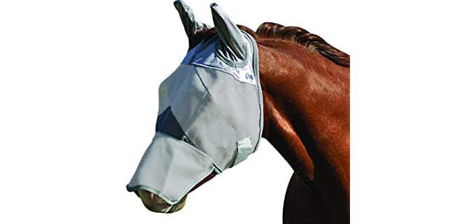 Cashel Crusader Mule Fly Mask, Standard with Ears - Horse Fly Mask