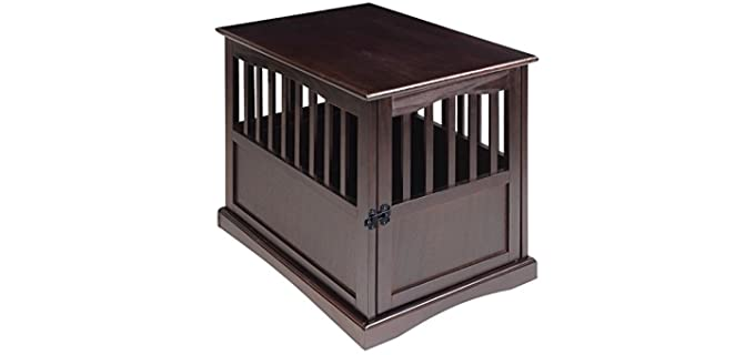 Casual Home Wooden Pet Crate - Crate for Puppies