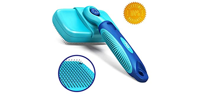 CleanHouse Pets Self-Cleaning Brush - Grooming Brush for Rabbits