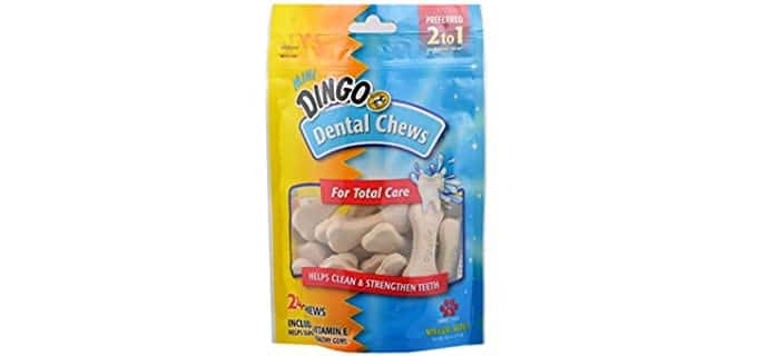 Dingo Whitening Mini Dental Chews - Teeth Cleaning Chews for Dogs