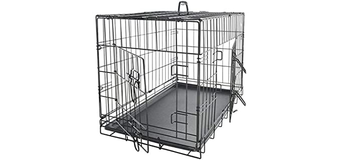 Paws and Pals Double-Door Metal Dog Crate - Puppy's Crate