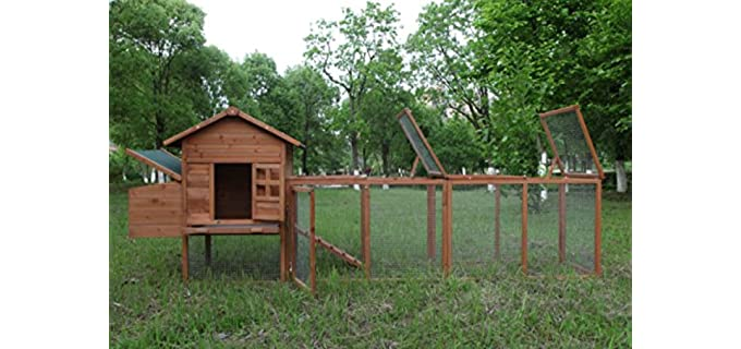 ECOLINEAR Wooden Chicken Coop - Safe Chicken Coop