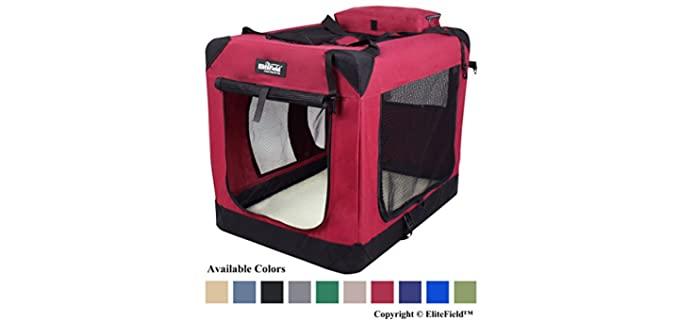 EliteField 3-Door Folding Soft Dog Crate - Puppy's Crate