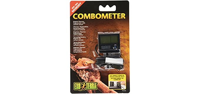 Exo Terra Digital Thermo-Hygrometer - Thermometer for Reptiles