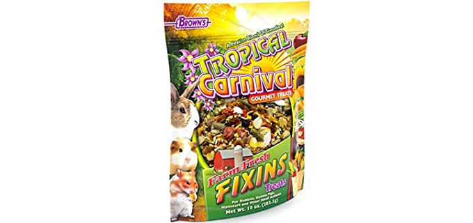 M. Brown'S Tropical Carnival Farm Fresh Fixins Treats For Rabbits - Food for Hamsters