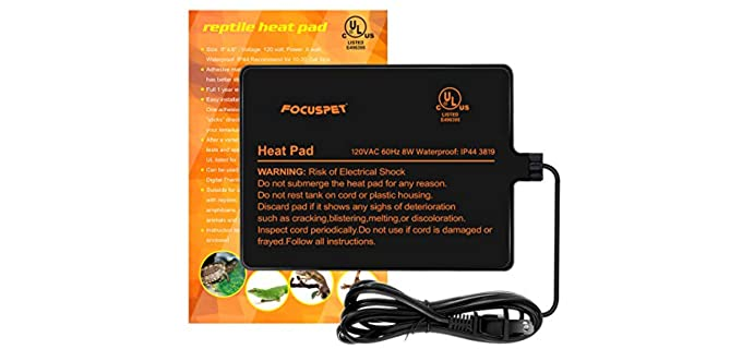 FOCUSPET  Under Tank Heater, Reptile Heating Pad - Reptile Heating Pad