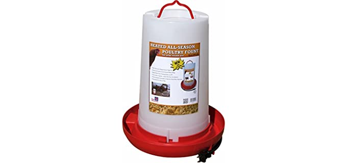 Farm Innovators All-Seasons Poultry Fountain - Watering Device for Chickens