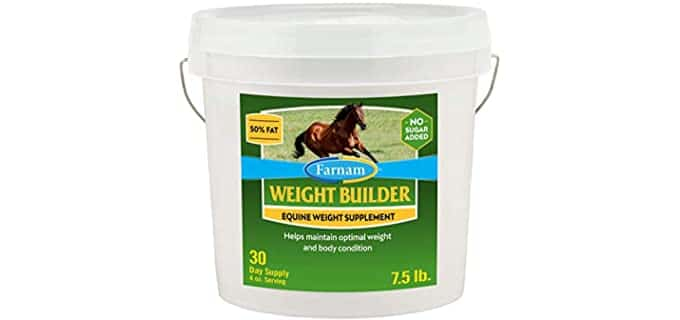 Farnam Weight Builder Supplement for Horses - Weight Gain Horse Feed