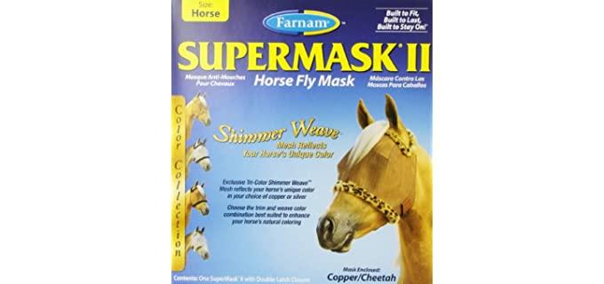 Farnam Supermask II Fly Mask Eye Care for Horse - Horse's Fly Mask
