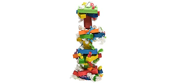 Featherland Paradise Knots N' Blocks Bird Toy - Toy for Your Bird