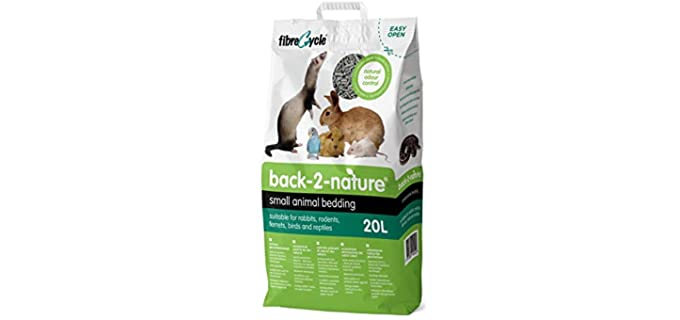 Fibrecycle USA Inc. Back-2-Nature Pet Bedding - Substrate and Bedding for Rats
