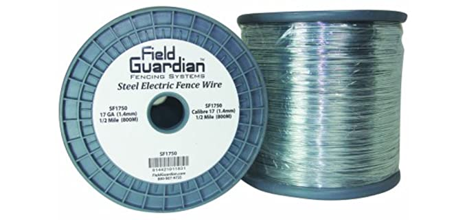 "Field Guardian Galvanized Steel Wire Fence - Horse""s Electric Fences"
