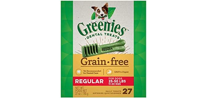 Greenies Grain-Free Natural Dental Dog Treats - Dog Teeth Cleaning Chews