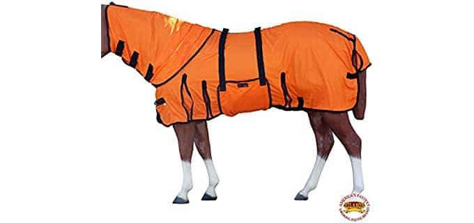 Hilason UV Protect Mesh Bug Mosquito Horse Fly Sheet Summer Spring - Fly Sheet for Horses