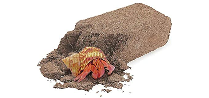 SunGrow Coconut Fiber Brick Hermit Crab Substrate - Hermit Crab Substrate