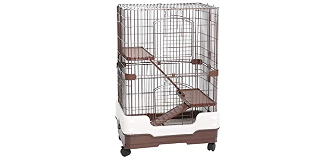 Homey Pet Three Tier Chinchilla Crate - Chinchilla Cage