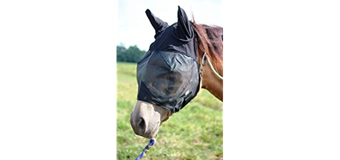 Prairie Horse Supply Horse Fly Mask Cover Ears Nose - Fly Mask for Horses