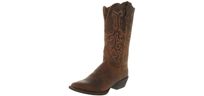 Justin Boots Women's Stampede Western Boot - Boots for Riding a Horse