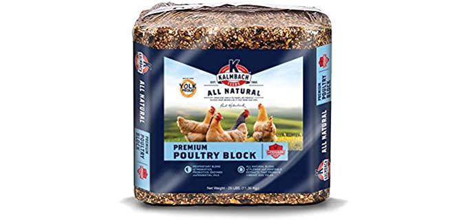 Kalmbach Feeds All Natural Poultry Block - Chicken Food