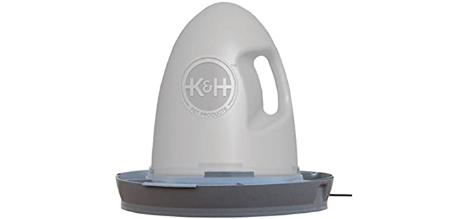 K and H Pet Products Thermo-Poultry Waterer - Waterer for Chickens