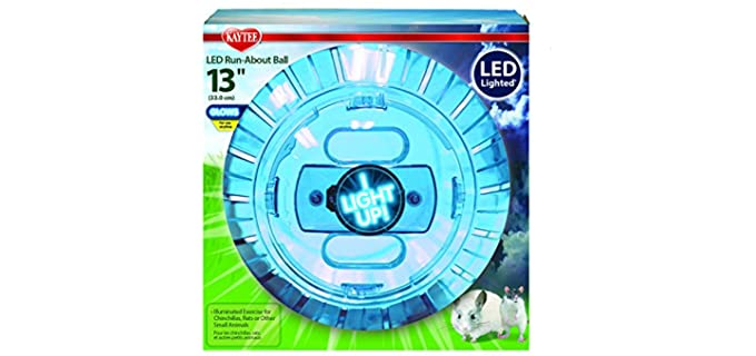Kaytee LED Run-About Exercise Ball - Toys for  Guinea Pigs