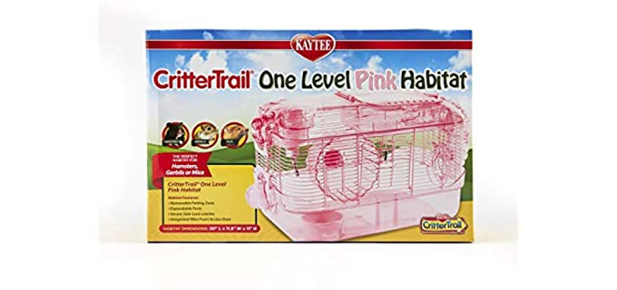 Kaytee One Level Pink Edition Habitat - Cage for Hamsters