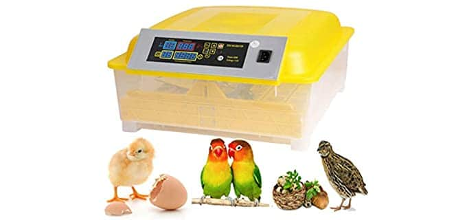 Kemanner Automatic Digital Clear Incubator - Incubator for Chicken Eggs