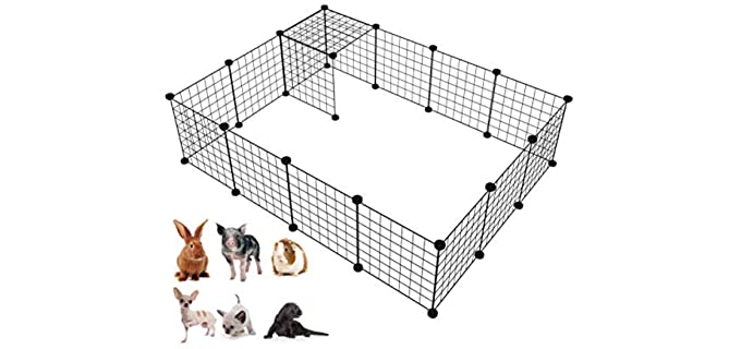 "LANGXUN 16pcs Metal Wire DIY Animal Cage - Guinea Pig""s Cage"