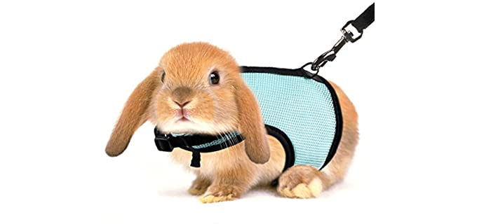 Mewtogo Adjustable and Breathable Bunny Harness - Harness for Rabbits