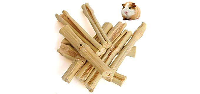 MUPIANLX Sweet Bamboo Chew Toys and Food - Snack Food For Rabbits