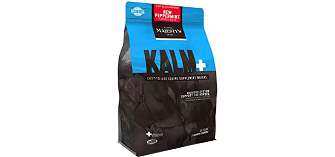 Majesty's Kalm Peppermint Wafers - Horse Calming Supplements