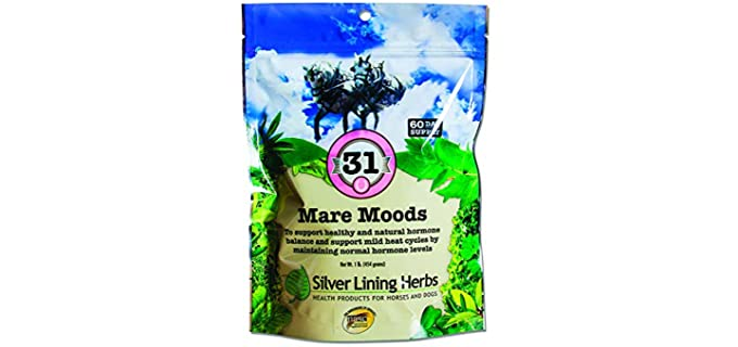 Silver Lining Herbs Mare Moods - Calming Supplement for Horses