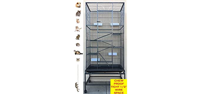 Mcage Extra-Large Small Animal Cage - Sugar Glider Cage