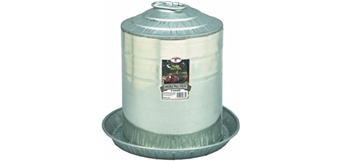 Little Giant Galvanized Double-Wall Founts - Chicken Waterer