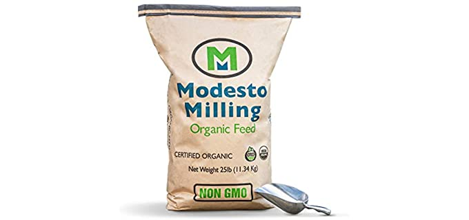 Modesto Milling Organic - Non-GMO Layer Crumbles for Chickens Feed