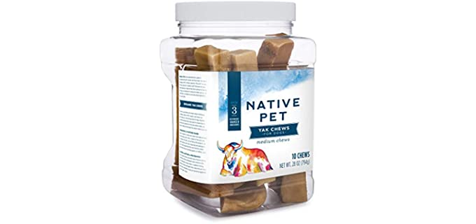 Native Pet Yak Chews for Dogs - Dog Teeth Cleaning Chews