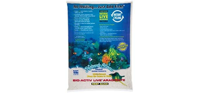 Nature's Ocean Bio-Activ Live Aragonite Live Sand - Substrate For Hermit Crabs