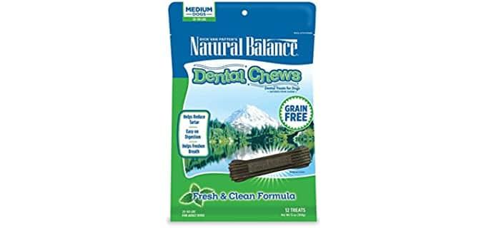 Natural Balance Dental Chews Dog Treats - Dog's Teeth Clean Chews
